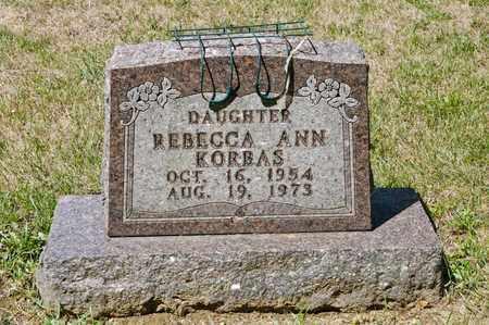 KORBAS, REBECCA ANN - Richland County, Ohio | REBECCA ANN KORBAS - Ohio Gravestone Photos