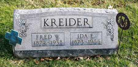 KREIDER, IDA E - Richland County, Ohio | IDA E KREIDER - Ohio Gravestone Photos