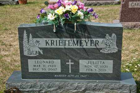 KRIETEMEYER, JULITTA - Richland County, Ohio | JULITTA KRIETEMEYER - Ohio Gravestone Photos