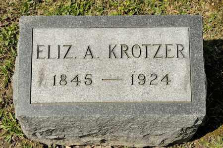 KROTZER, ELIZABETH A - Richland County, Ohio | ELIZABETH A KROTZER - Ohio Gravestone Photos