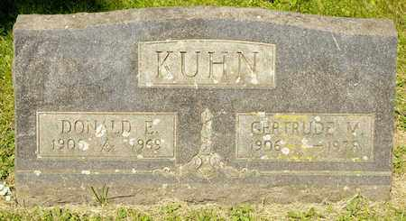 KUHN, DONALD E - Richland County, Ohio | DONALD E KUHN - Ohio Gravestone Photos