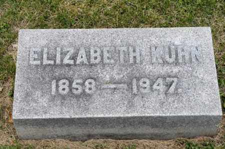 KUHN, ELIZABETH - Richland County, Ohio | ELIZABETH KUHN - Ohio Gravestone Photos