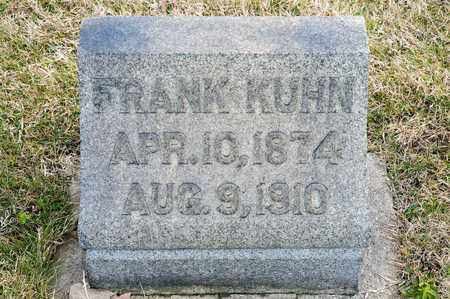 KUHN, FRANK - Richland County, Ohio | FRANK KUHN - Ohio Gravestone Photos