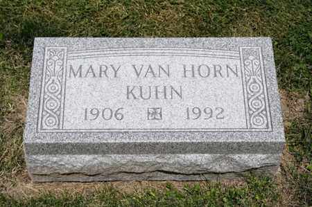 VAN HORN KUHN, MARY - Richland County, Ohio | MARY VAN HORN KUHN - Ohio Gravestone Photos