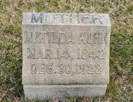 KUHN, MATILDA - Richland County, Ohio | MATILDA KUHN - Ohio Gravestone Photos