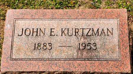 KURTZMAN, JOHN E - Richland County, Ohio | JOHN E KURTZMAN - Ohio Gravestone Photos