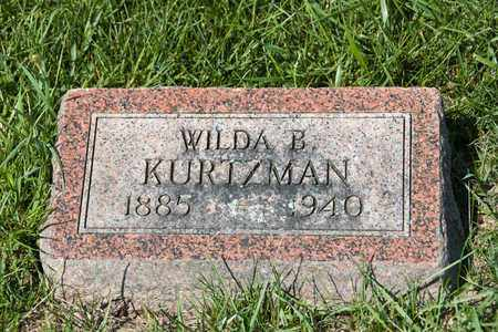KURTZMAN, WILDA B - Richland County, Ohio | WILDA B KURTZMAN - Ohio Gravestone Photos