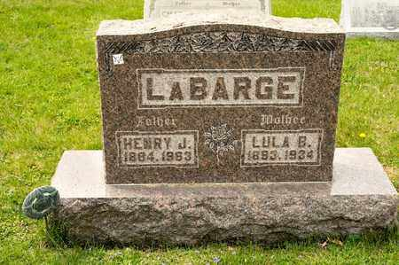 LABARGE, LULA B - Richland County, Ohio | LULA B LABARGE - Ohio Gravestone Photos
