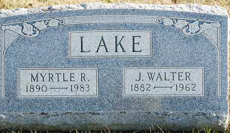 LAKE, J WALTER - Richland County, Ohio | J WALTER LAKE - Ohio Gravestone Photos