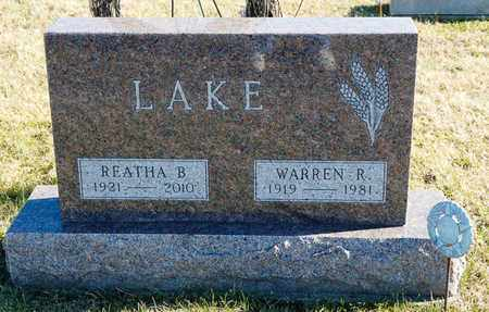LAKE, REATHA B - Richland County, Ohio | REATHA B LAKE - Ohio Gravestone Photos