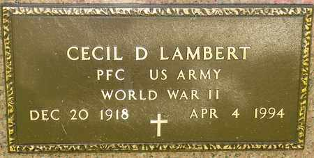 LAMBERT, CECIL D - Richland County, Ohio | CECIL D LAMBERT - Ohio Gravestone Photos