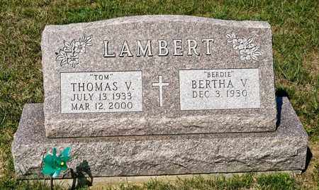 LAMBERT, THOMAS V - Richland County, Ohio | THOMAS V LAMBERT - Ohio Gravestone Photos
