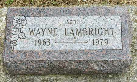 LAMBRIGHT, WAYNE - Richland County, Ohio | WAYNE LAMBRIGHT - Ohio Gravestone Photos