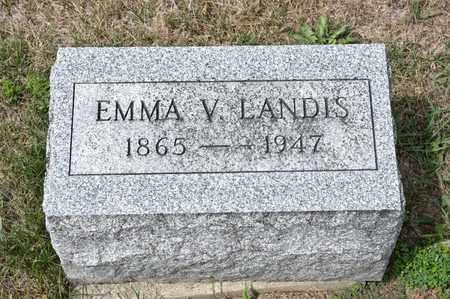 LANDIS, EMMA V - Richland County, Ohio | EMMA V LANDIS - Ohio Gravestone Photos