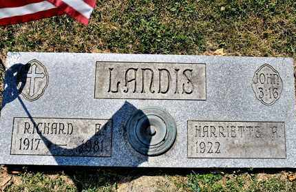 LANDIS, RICHARD E - Richland County, Ohio | RICHARD E LANDIS - Ohio Gravestone Photos