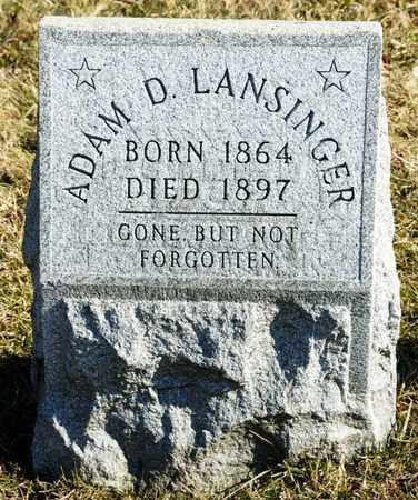 LANSINGER, ADAM D - Richland County, Ohio | ADAM D LANSINGER - Ohio Gravestone Photos