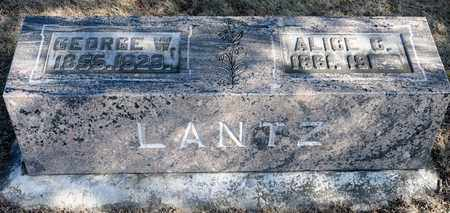 LANTZ, ALICE C - Richland County, Ohio | ALICE C LANTZ - Ohio Gravestone Photos