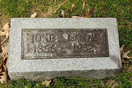 LANTZ, IONE J - Richland County, Ohio | IONE J LANTZ - Ohio Gravestone Photos