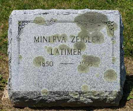ZEIGLER LATIMER, MINERVA - Richland County, Ohio | MINERVA ZEIGLER LATIMER - Ohio Gravestone Photos