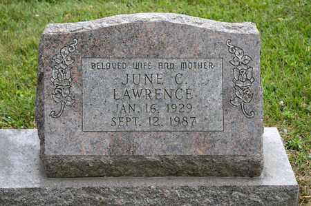 LAWRENCE, JUNE C - Richland County, Ohio | JUNE C LAWRENCE - Ohio Gravestone Photos
