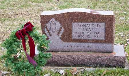 LEAR, RONALD D - Richland County, Ohio   RONALD D LEAR - Ohio Gravestone Photos