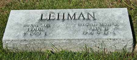 LEHMAN, ADA B - Richland County, Ohio | ADA B LEHMAN - Ohio Gravestone Photos