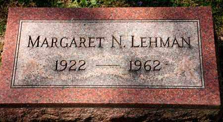 LEHMAN, MARGARET N - Richland County, Ohio | MARGARET N LEHMAN - Ohio Gravestone Photos