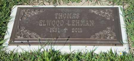LEHMAN, THOMAS ELWOOD - Richland County, Ohio | THOMAS ELWOOD LEHMAN - Ohio Gravestone Photos