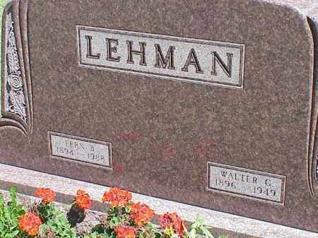 LEHMAN, FERN B. - Richland County, Ohio | FERN B. LEHMAN - Ohio Gravestone Photos