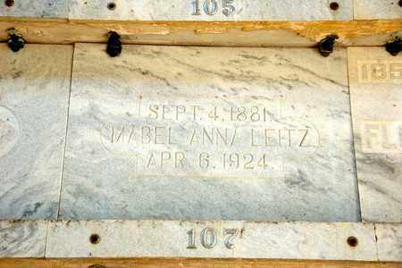 LEITZ, MABEL ANNA - Richland County, Ohio | MABEL ANNA LEITZ - Ohio Gravestone Photos