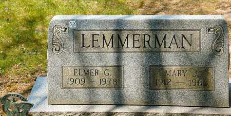 LEMMERMAN, ELMER G - Richland County, Ohio | ELMER G LEMMERMAN - Ohio Gravestone Photos