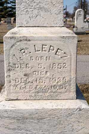 LEPEZ, I R - Richland County, Ohio | I R LEPEZ - Ohio Gravestone Photos