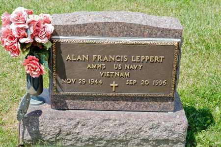 LEPPERT, ALAN FRANCIS - Richland County, Ohio | ALAN FRANCIS LEPPERT - Ohio Gravestone Photos
