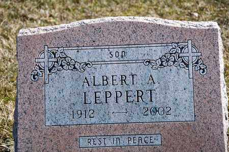 LEPPERT, ALBERT A - Richland County, Ohio | ALBERT A LEPPERT - Ohio Gravestone Photos
