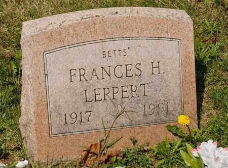 LEPPERT, FRANCES H - Richland County, Ohio | FRANCES H LEPPERT - Ohio Gravestone Photos
