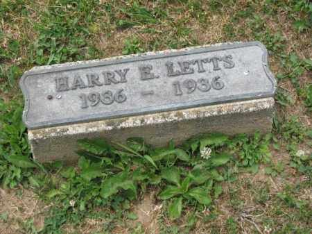 LETTS, HARRY E. - Richland County, Ohio | HARRY E. LETTS - Ohio Gravestone Photos