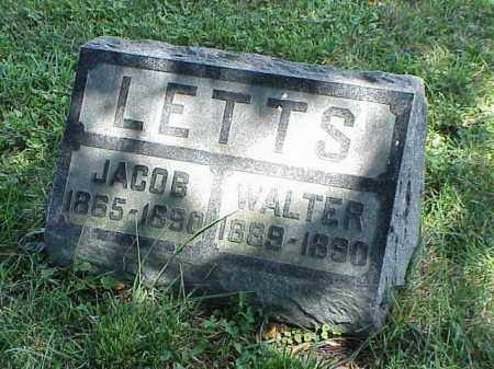 LETTS, WALTER - Richland County, Ohio | WALTER LETTS - Ohio Gravestone Photos