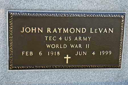 LEVAN, JOHN RAYMOND - Richland County, Ohio | JOHN RAYMOND LEVAN - Ohio Gravestone Photos