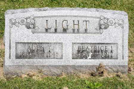 LIGHT, ADEN T - Richland County, Ohio | ADEN T LIGHT - Ohio Gravestone Photos