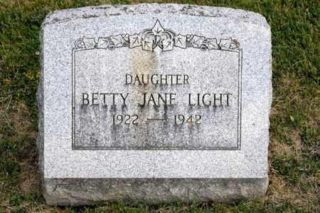LIGHT, BETTY JANE - Richland County, Ohio | BETTY JANE LIGHT - Ohio Gravestone Photos
