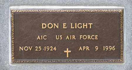 LIGHT, DON E - Richland County, Ohio | DON E LIGHT - Ohio Gravestone Photos