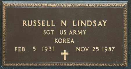 LINDSAY, RUSSELL N - Richland County, Ohio | RUSSELL N LINDSAY - Ohio Gravestone Photos