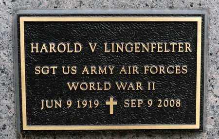 LINGENFELTER, HAROLD V - Richland County, Ohio | HAROLD V LINGENFELTER - Ohio Gravestone Photos