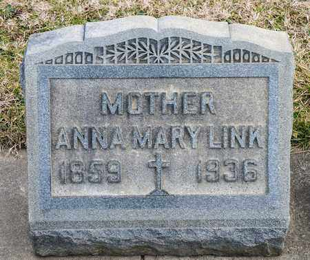LINK, ANNA MARY - Richland County, Ohio | ANNA MARY LINK - Ohio Gravestone Photos