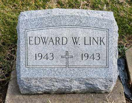 LINK, EDWARD W - Richland County, Ohio | EDWARD W LINK - Ohio Gravestone Photos