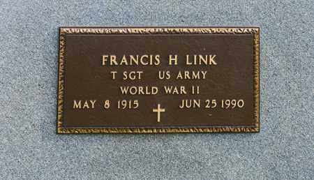 LINK, FRANCIS H - Richland County, Ohio | FRANCIS H LINK - Ohio Gravestone Photos