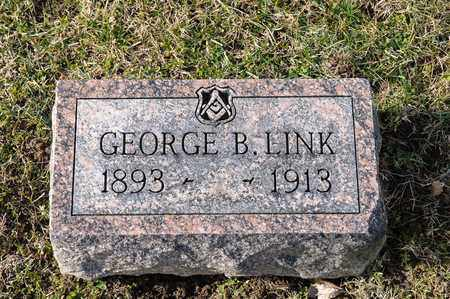 LINK, GEORGE B - Richland County, Ohio | GEORGE B LINK - Ohio Gravestone Photos