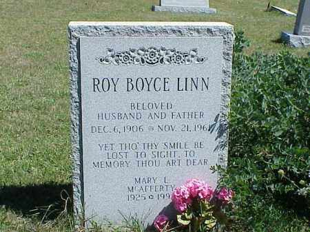 LINN, ROY BOYCE - Richland County, Ohio | ROY BOYCE LINN - Ohio Gravestone Photos