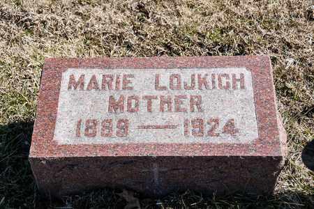 LOJKICH, MARIE - Richland County, Ohio | MARIE LOJKICH - Ohio Gravestone Photos