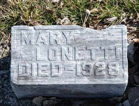 LONETTI, MARY - Richland County, Ohio | MARY LONETTI - Ohio Gravestone Photos